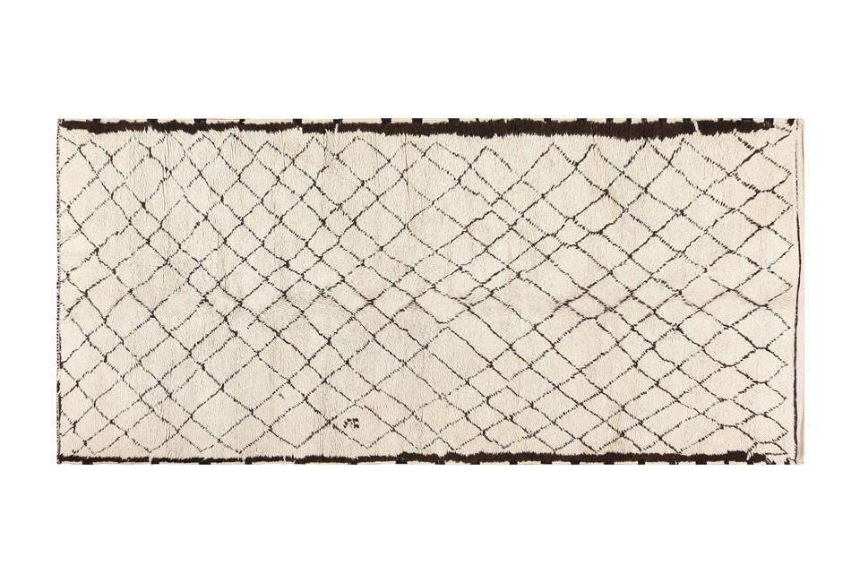 vintage beni ourain moroccan rug 22