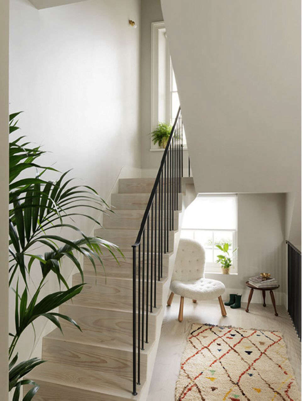 A Notting Hill Townhouse Tailored for Living by Charles Mellersh Dinensen Douglas fir stair in a remodeled Notting Hill townhouse with interior design by Charles Mellersh   Remodelista