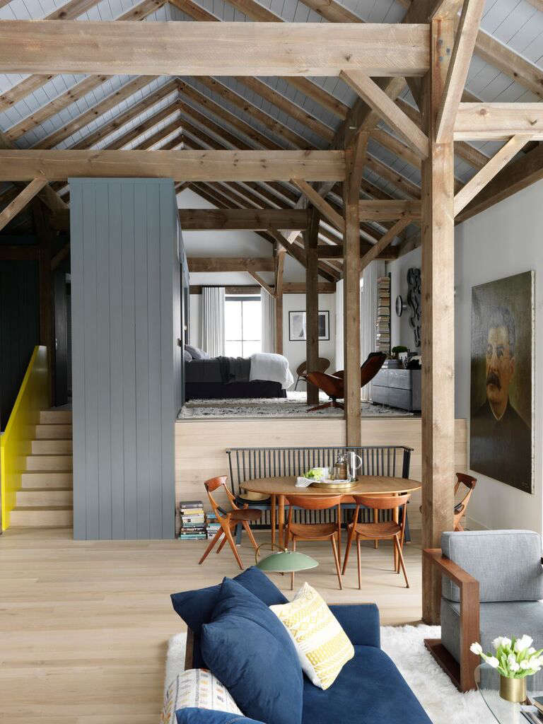 Open plan living area at Fox Hall, a Passive House by BarlisWedlick | Remodelista