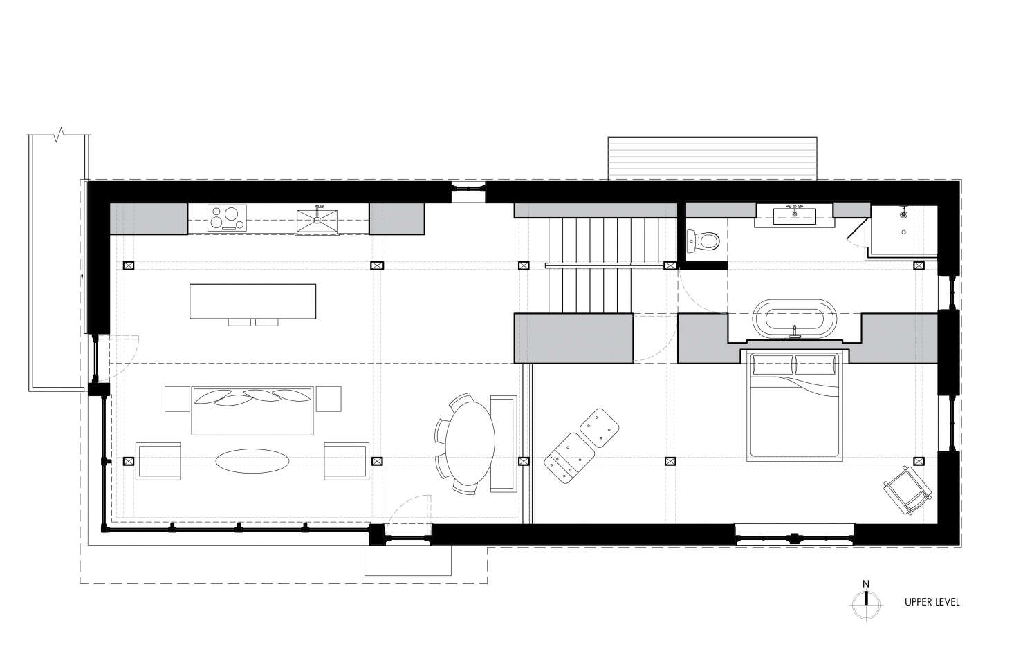 Upper level floor plan, Fox Hall by BarlisWedlick | Remodelista