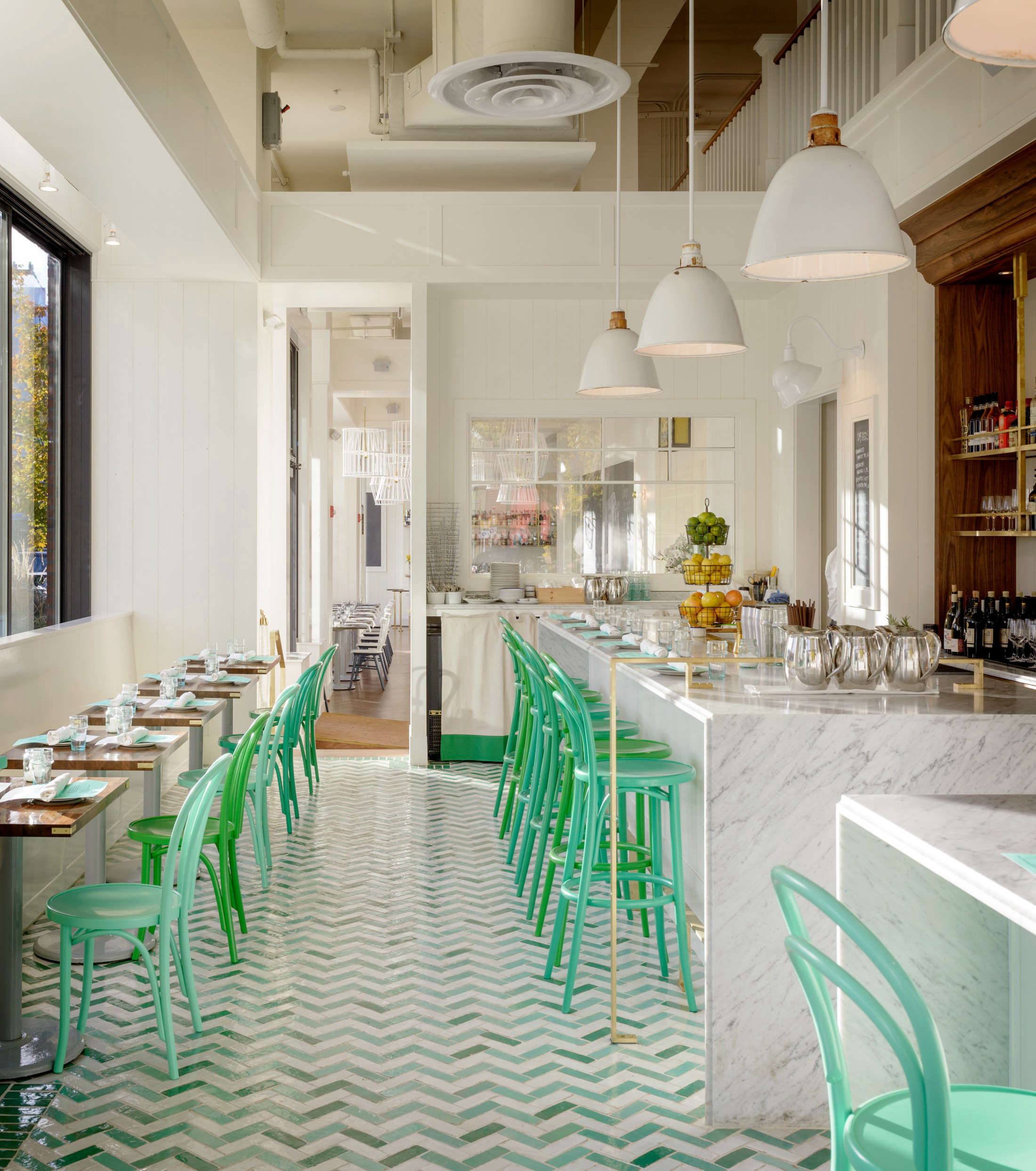 As at the Walrus &the Carpenter, another Erickson restaurant,the oyster bar is the star of Bar Melusine, which serves Brittany-style raw, smoked, and pickled seafood and shellfish.