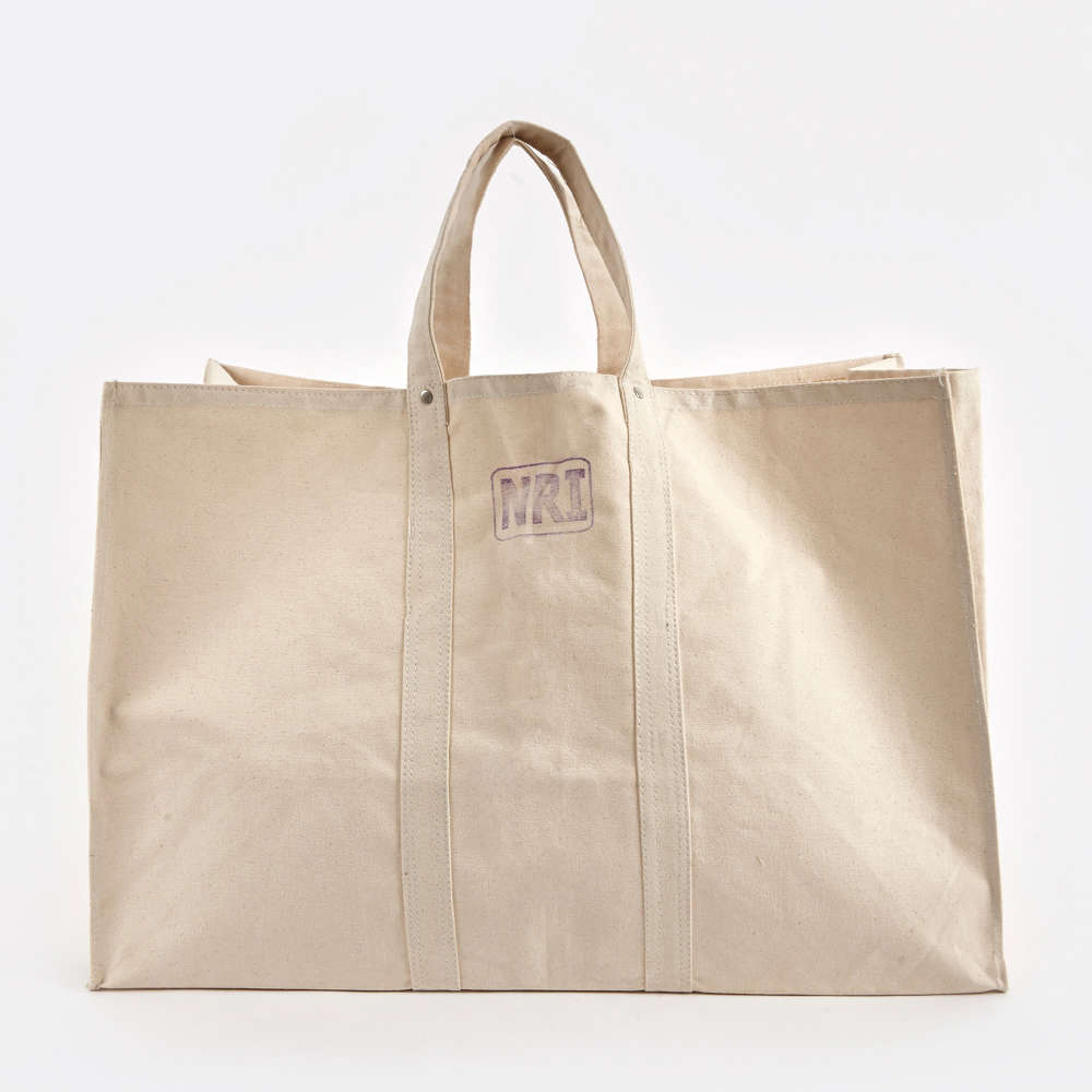 the labour canvas tote bag is \$55.48 from goodhood. 11