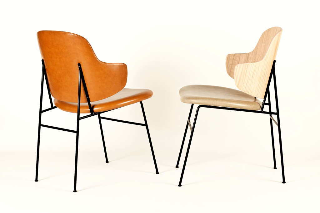 Object Lessons The Penguin Chair a Midcentury Best Seller Is Back The Ib Kofod Larsen Penguin Dining Chairs, midcentury reissues partly and fully upholstered in leather, available from Goods We Love | Remodelista