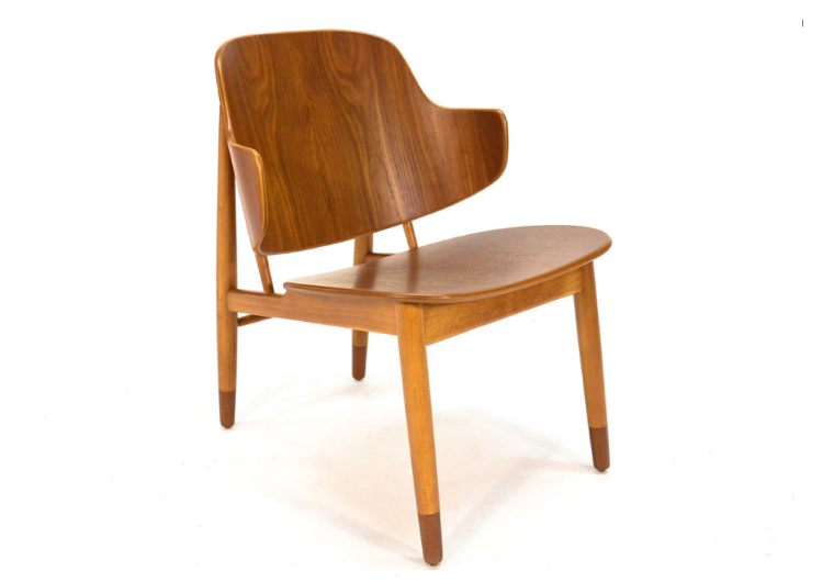 Object Lessons The Penguin Chair a Midcentury Best Seller Is Back Vintage Teak Kofod Larsen Shell Lounge Chair Arroyo Artifacts | Remodelista