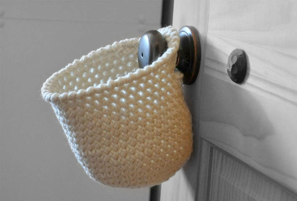 A six-inch-deep crocheted Hanging Storage Basket is $ from A and B Design Studio, an Etsy seller based in Arizona. Shown here in cream; other colors available.