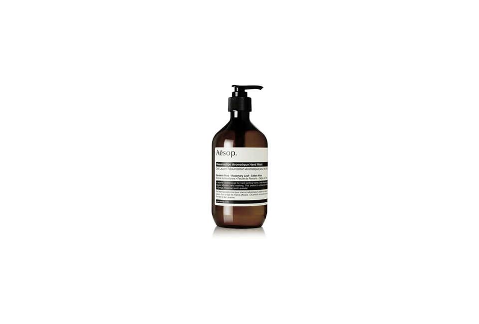 aesop&#8\2\17;s resurrection aromatique hand wash is \$39. 32