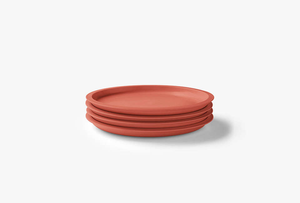 aura kali side plates in coral 13