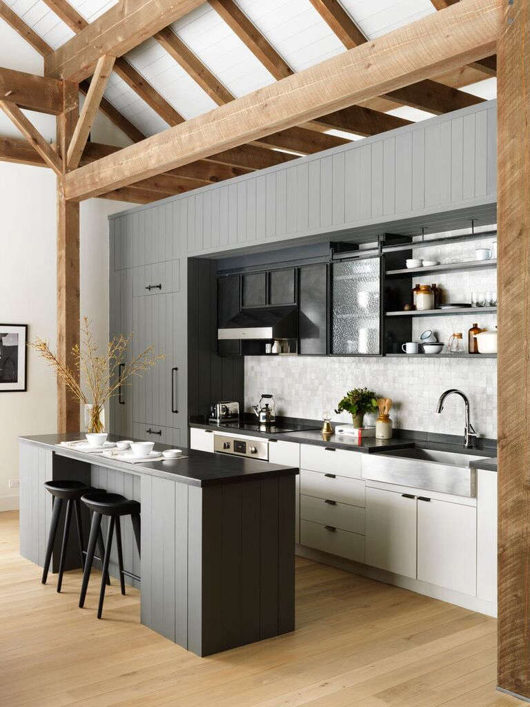Fox Hall gray and white kitchen by BarlisWedlick | Remodelista