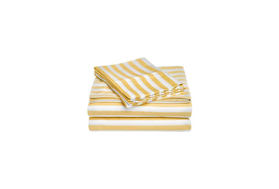 Cabana Cotton Sheet Set in Mustard