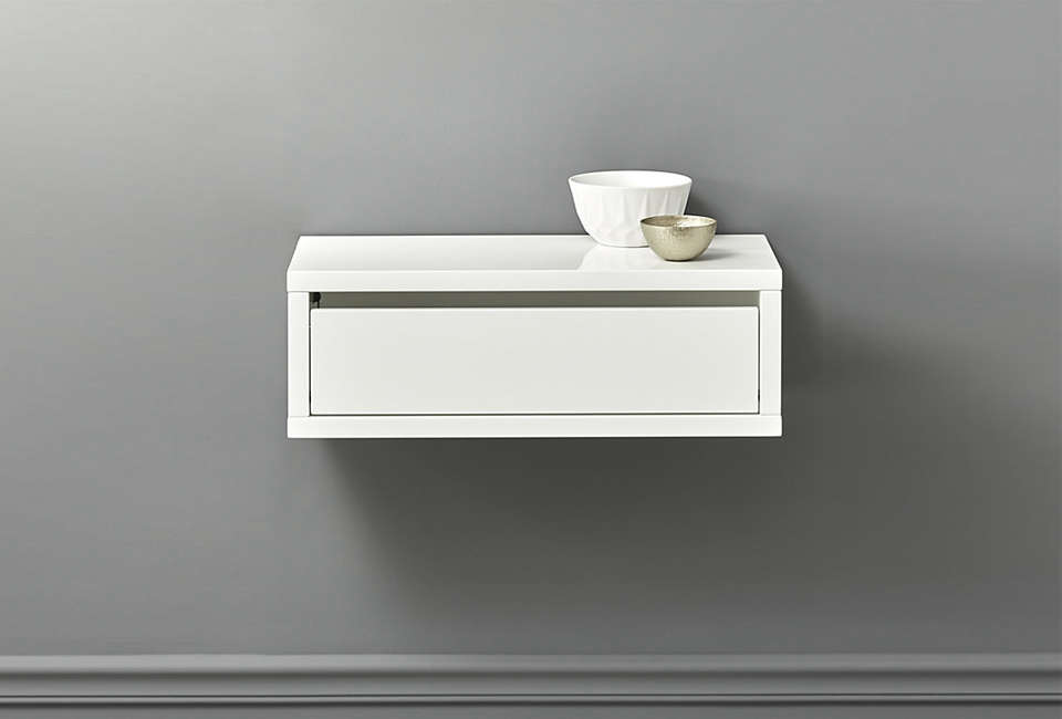 cb\2&#8\2\17;s slice white wall mounted storage shelf has a drawer integrat 11