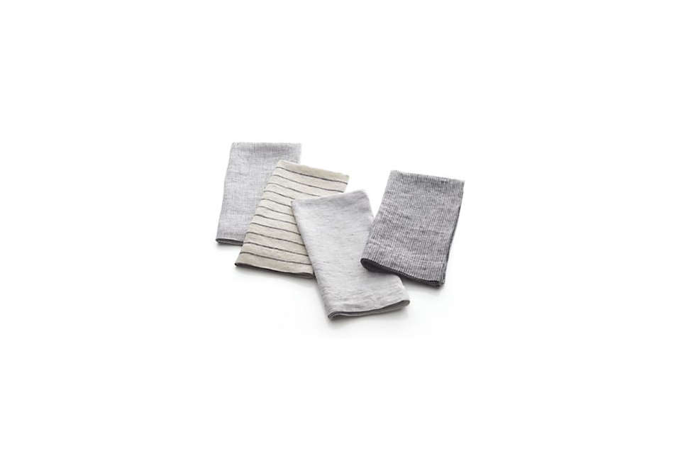 LinenSuits Napkins from Crate & Barrel are $39.95 for a set of four, each in a different stripe.