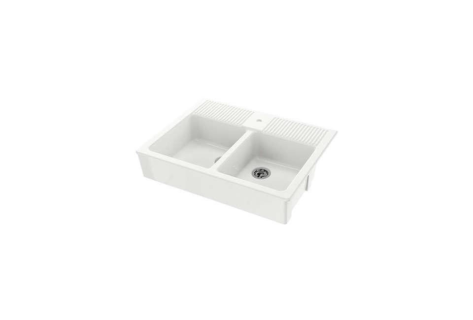 Domsjo Double Bowl Apron Front Sink