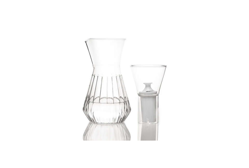 fferrone fluted talise water filter carafe 12