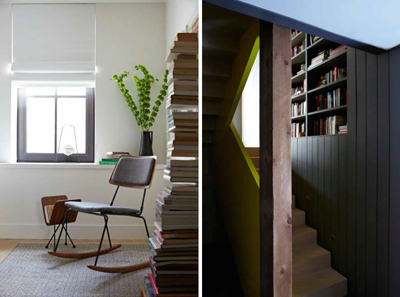 Modern rocker and stair at Fox Hall by BarlisWedlick | Remodelista