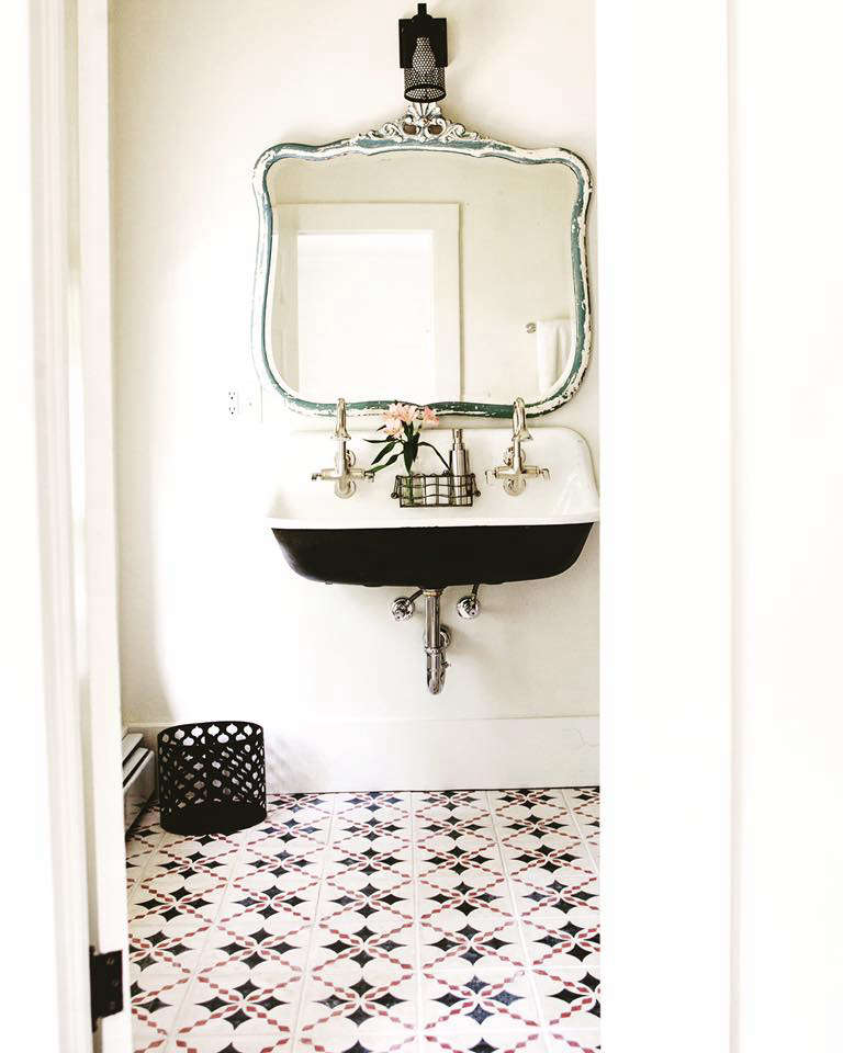 Bohemian Mastermix Foxfire Mountain House in the Catskills The bathrooms all have tiled Moroccan floors.