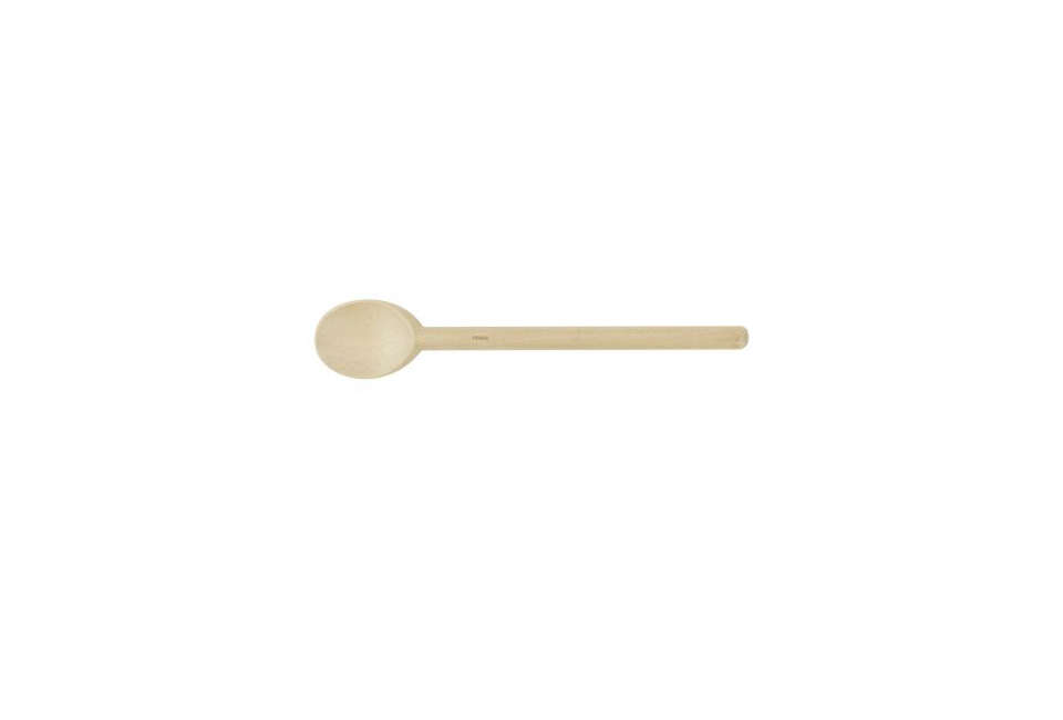 thebeechwood spoon from sur la table is \$\1\2.50 for the \1\2 inch size; see 28