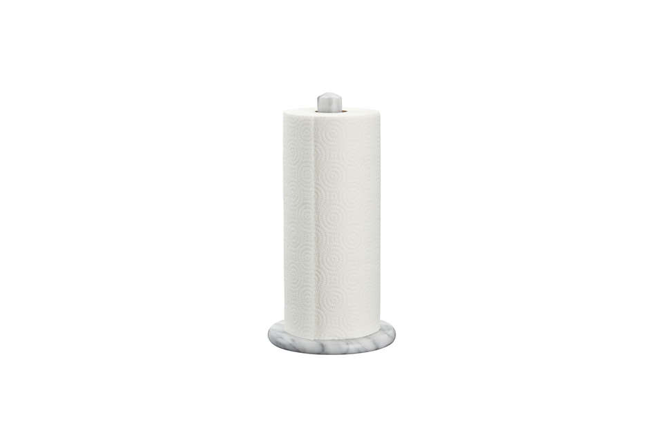 Crate & Barrel French Kitchen Marble Paper Towel Holder