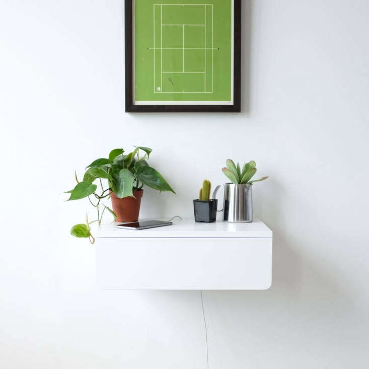 the kroft buoy floating nightstand is available in white (shown), watermelon (g 10