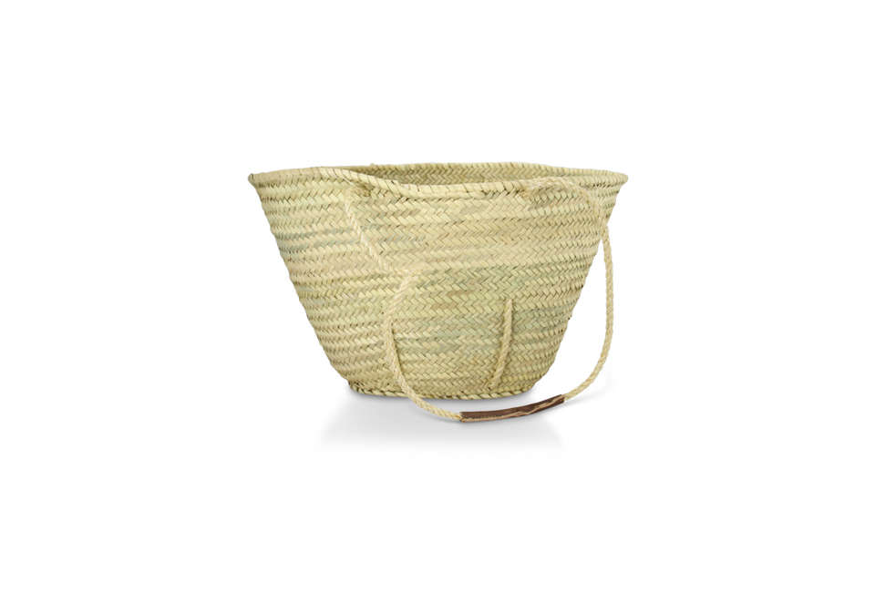 with sisal handles and leather hand grips, a la vie quinn is \$34 from maison d 23