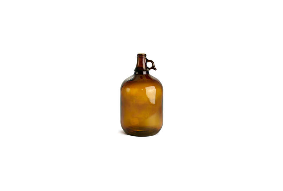 The One Gallon Amber Glass Jug with a handle and cap is $9.59 from My World Hut.