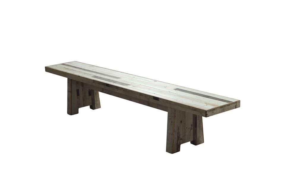 piet hein eek&#8\2\17;scanteen bench in scrapwood is \$4,400 from the f 22