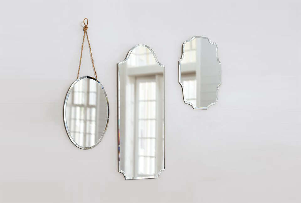 these eleanor frameless mirrors from pottery barn have a vintage look. they com 33