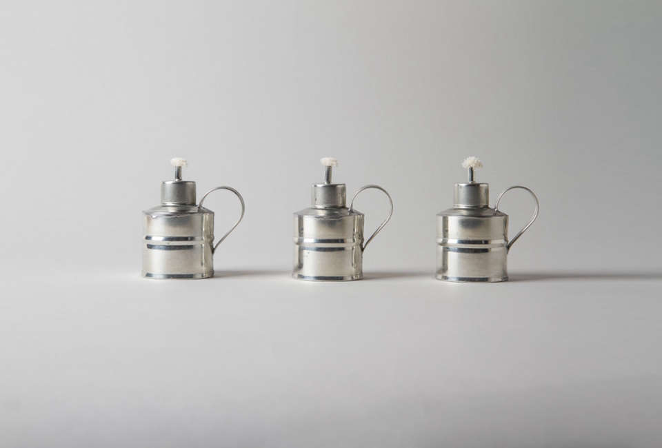 Saudade in London specializes in imports from Portugal, including these four-inch-tall Tin Garden Lanterns; £loading=