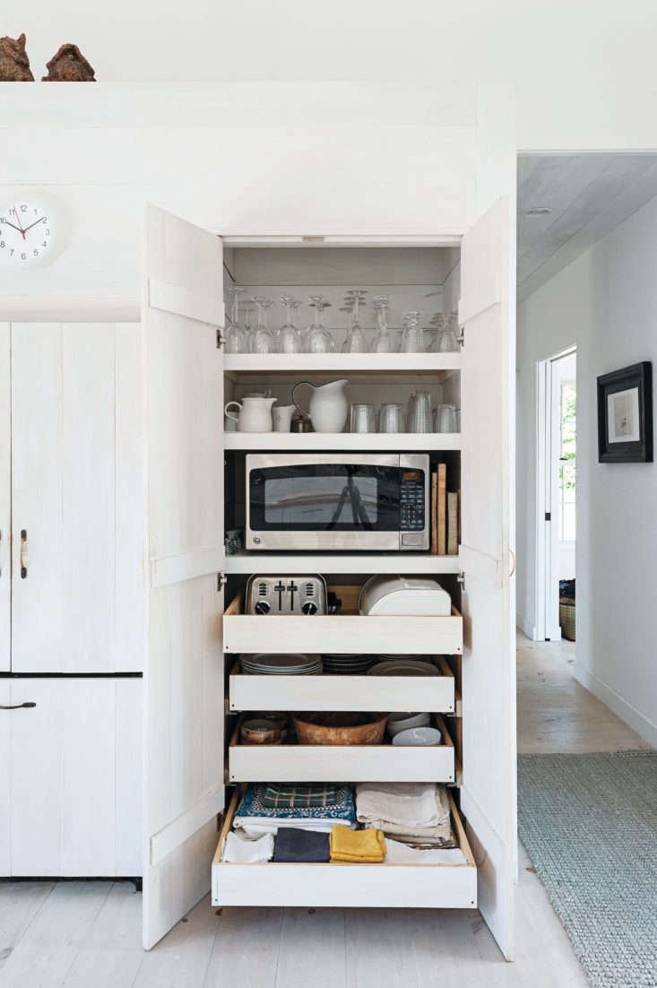 in sheila narusawa&#8\2\17;s cape cod kitchen, the microwave and other smal 11