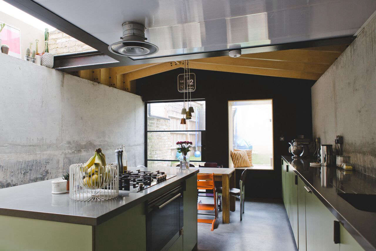 Architect Simon Astridge's kitchen at Plywood House, a London Victorian remodeled, photo via FvF | Remodelista