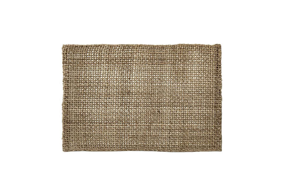 Made of woven abaca fibers,Fishnet Placemat Sets from West Elm come in four colors (natural shown here); $ for a set of two.