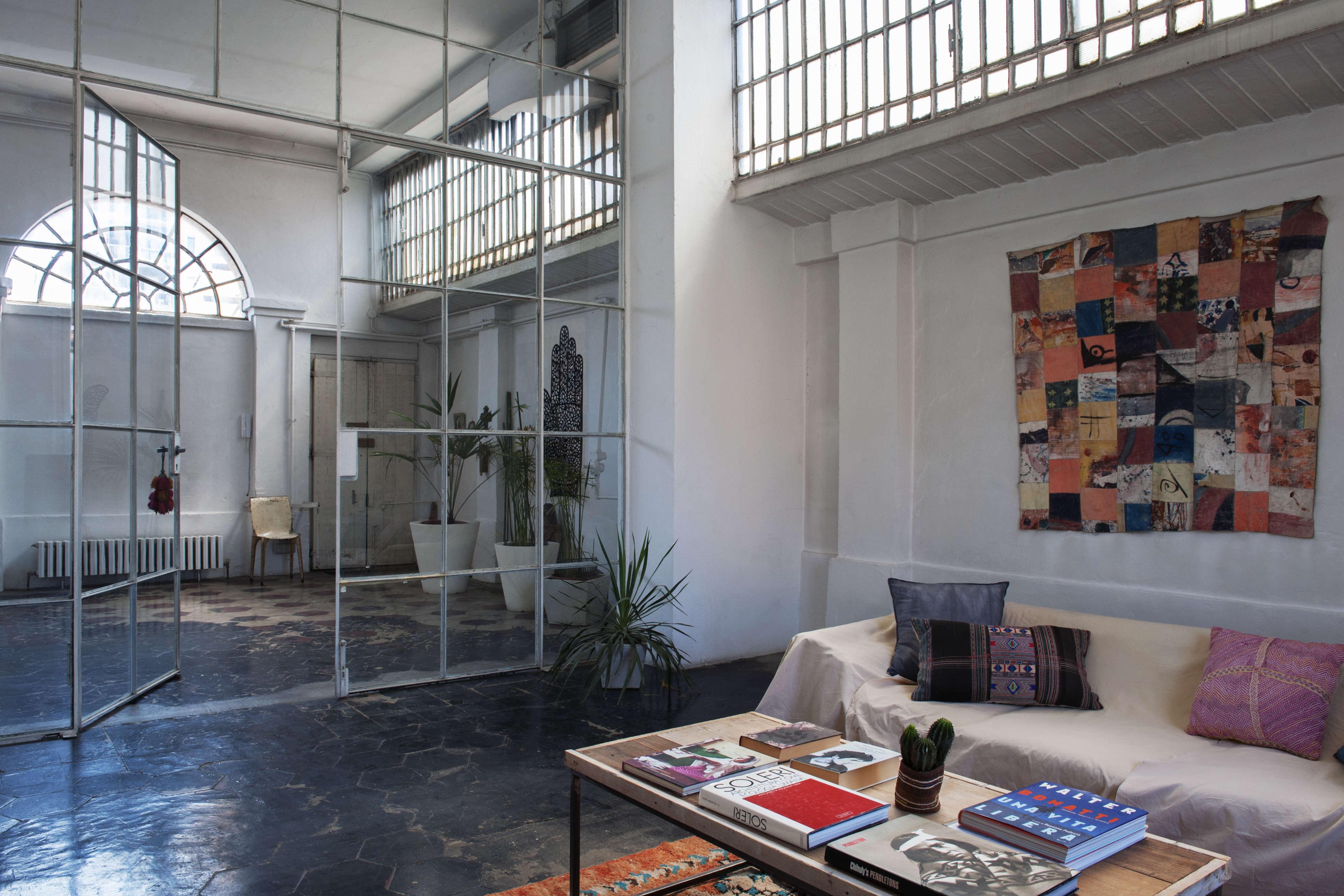 A RomanticIndustrial Milan Loft for a Bohemian Design Duo Bsbee Milan Loft Remodelista 1