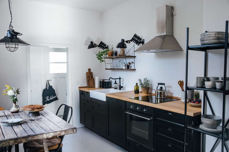 Ikea cabinets, fixtures, and appliances make up the Berlin kitchen of food bloggersNoraEisermann and Laura Muthesius. For more, visitKitchen of the Week: A DIY Ikea Country Kitchen for Two Berlin Creatives.