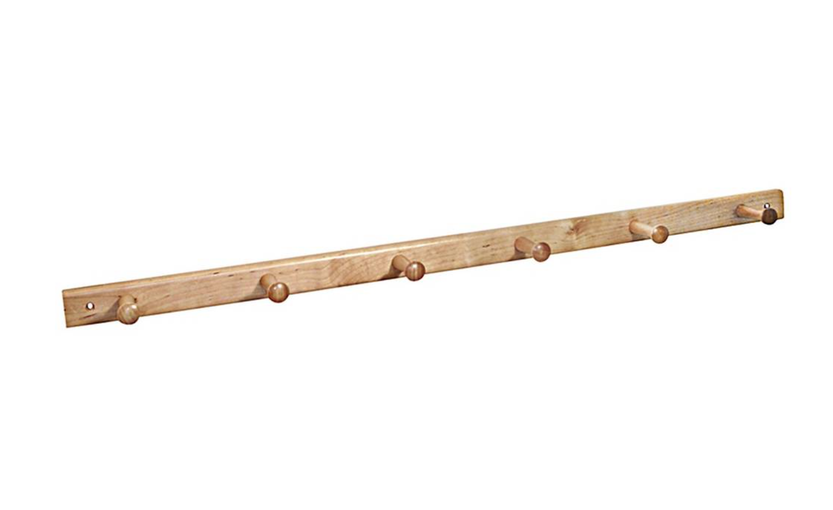 This maple and birch rail by InterDesign has a thin, sleek profile; $.49 at Life & Home or $.59 at Target.