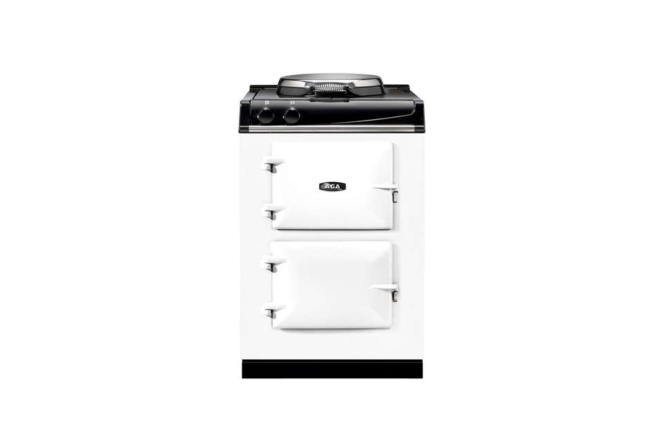 Steal This Look A ScandiStyle Kitchen in a Canadian Cabin The Aga City60 Traditional Electric Range in white is available for £5,495 (\$7,\289) at Aga Living and other authorized Aga dealers.