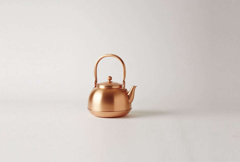 The Copper Kettle, made in Japan, is nickel-plated on the inside and finished with wax on the outside; $0 CAD ($4 USD) at Mjölk, where it&#8