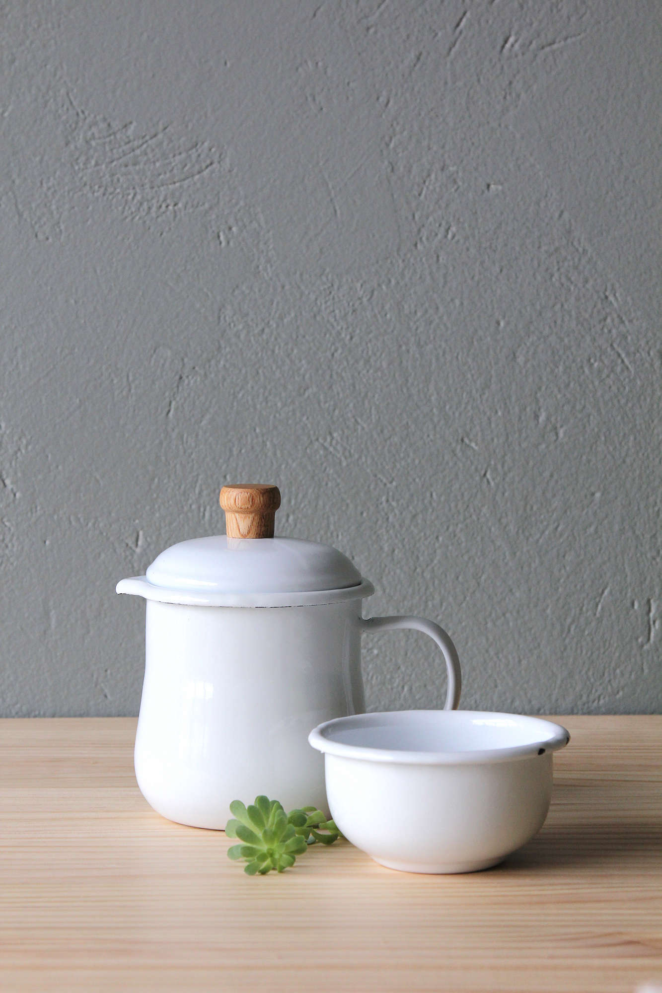 Criolla Pitcher and Cuenco Bowl in White on Remodelista