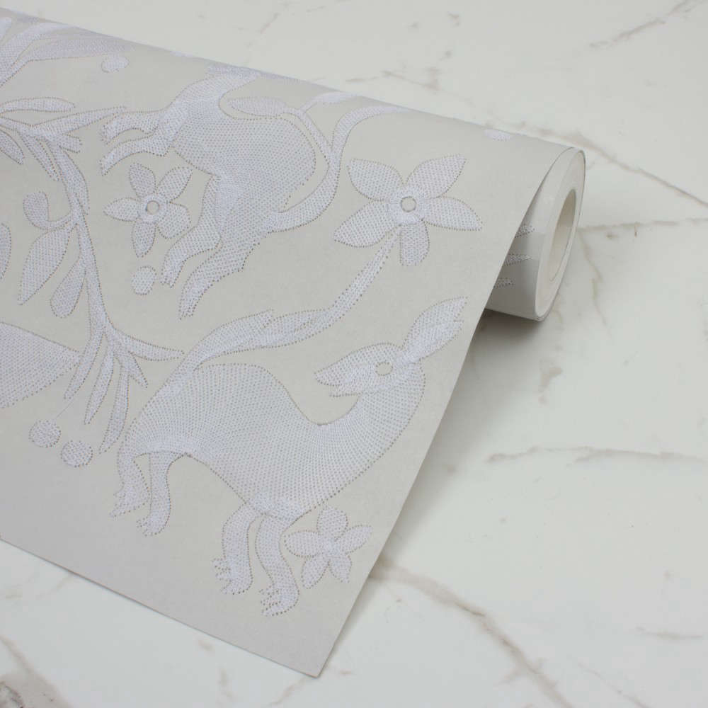 custhom aves embroidered wallpaper grey remodelista 14