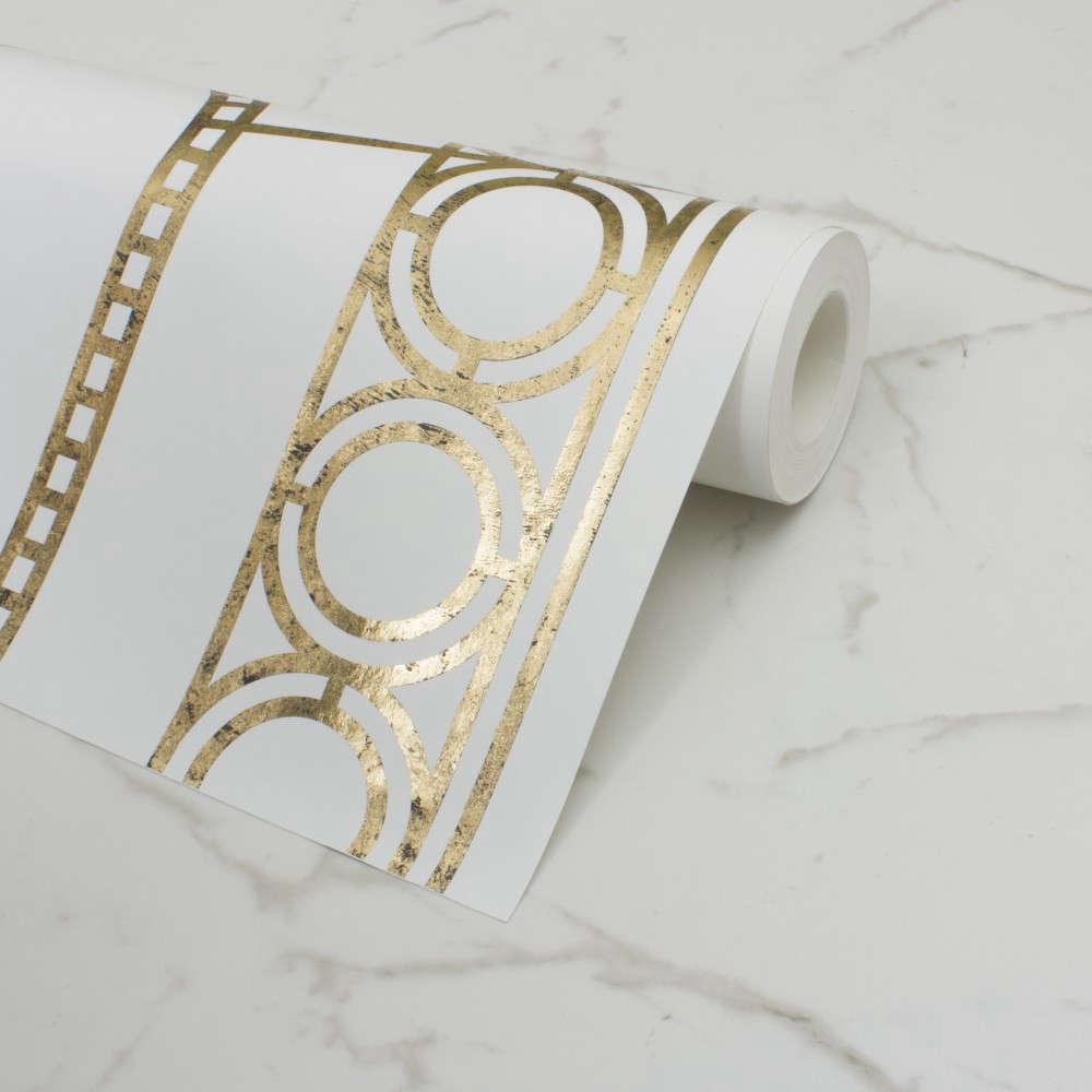 custhom palladian wallpaper gold remodelista 11
