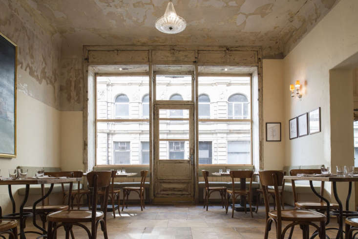 dottír restaurant in berlin, germany, exists in a jewish merchant house from t 24