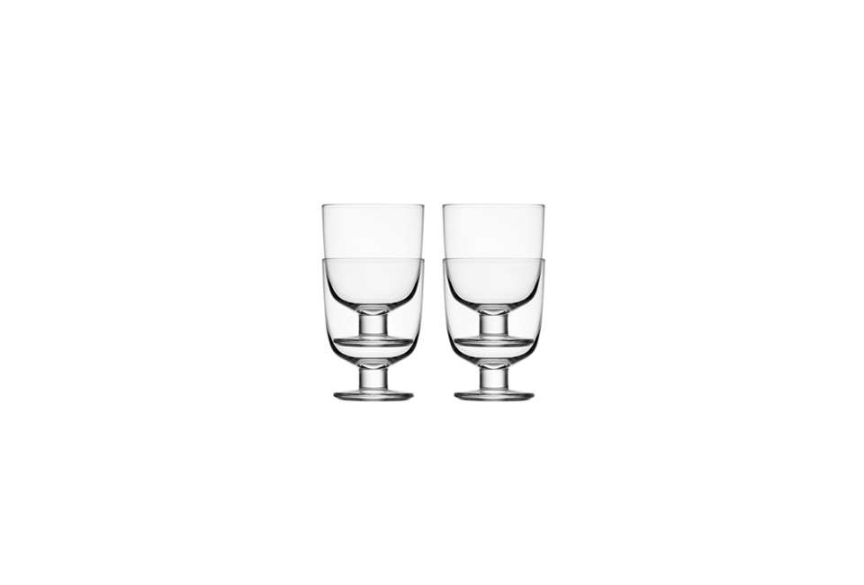 Steal This Look A ScandiStyle Kitchen in a Canadian Cabin A set of fourIittala's Clear Lempi Glassesis \$74.99 at Amazon. The glasses are featured in our posts \10 Easy Pieces: Space Saving Stackable Drinking Glassesand \10 Easy Pieces: The New Short Wine Glass.