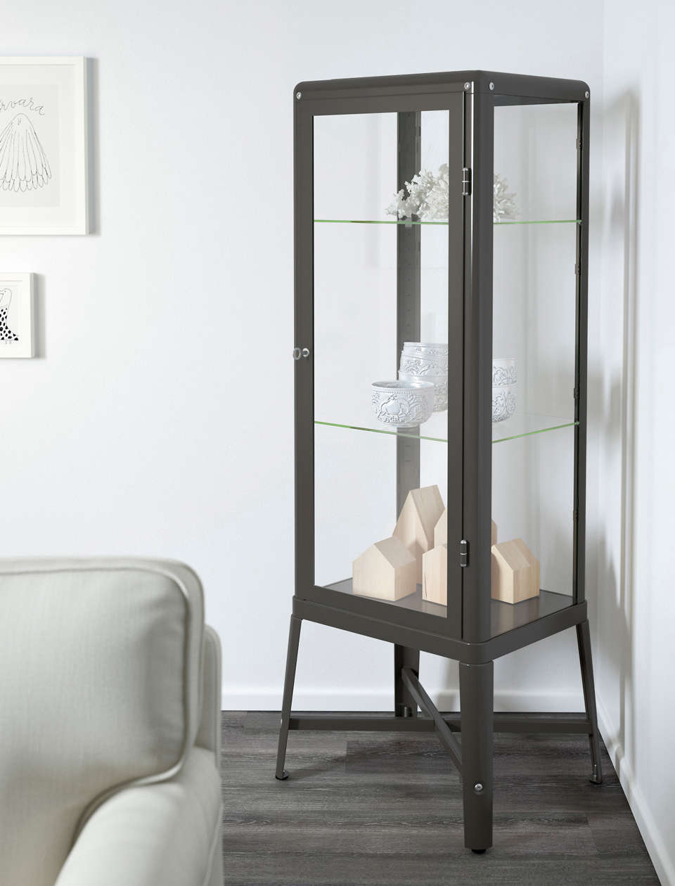 10 Easy Pieces Glass and Steel Display Cabinets IKEA Fabrikor Cabinet