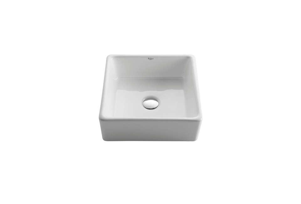 Kraus White Square Washbasin