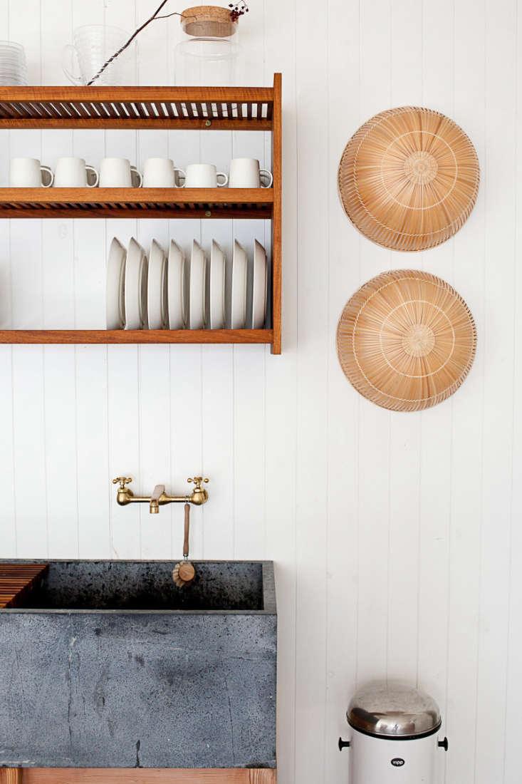 A soapstone sink weathering naturally. Photograph courtesy of Juli Baker, from O Canada: Mjölk&#8