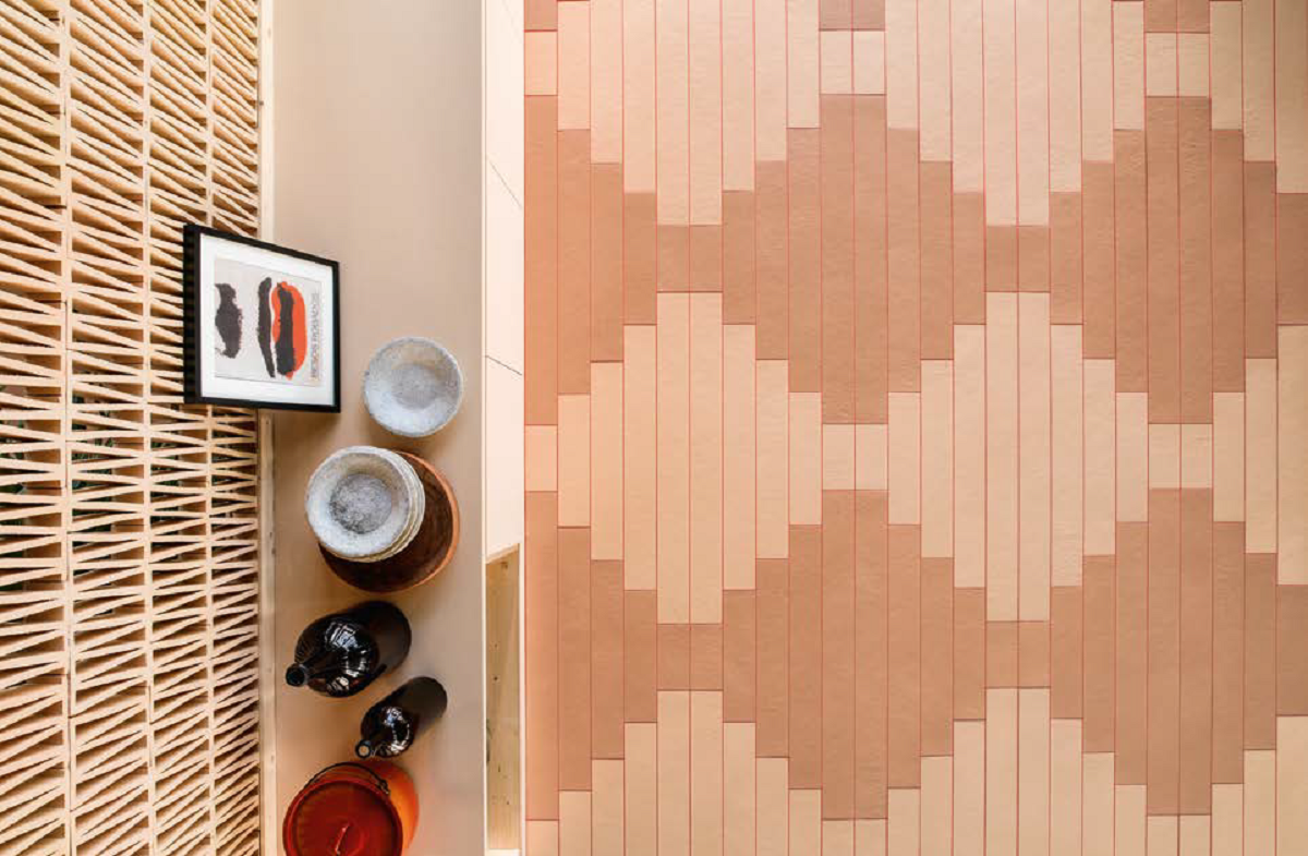 Earth and Clay Tierras Tiles by Patricia Urquiola for Mutina Tierra Tiles Terra Cotta Overhead by Patricia Urquiola for Mutina