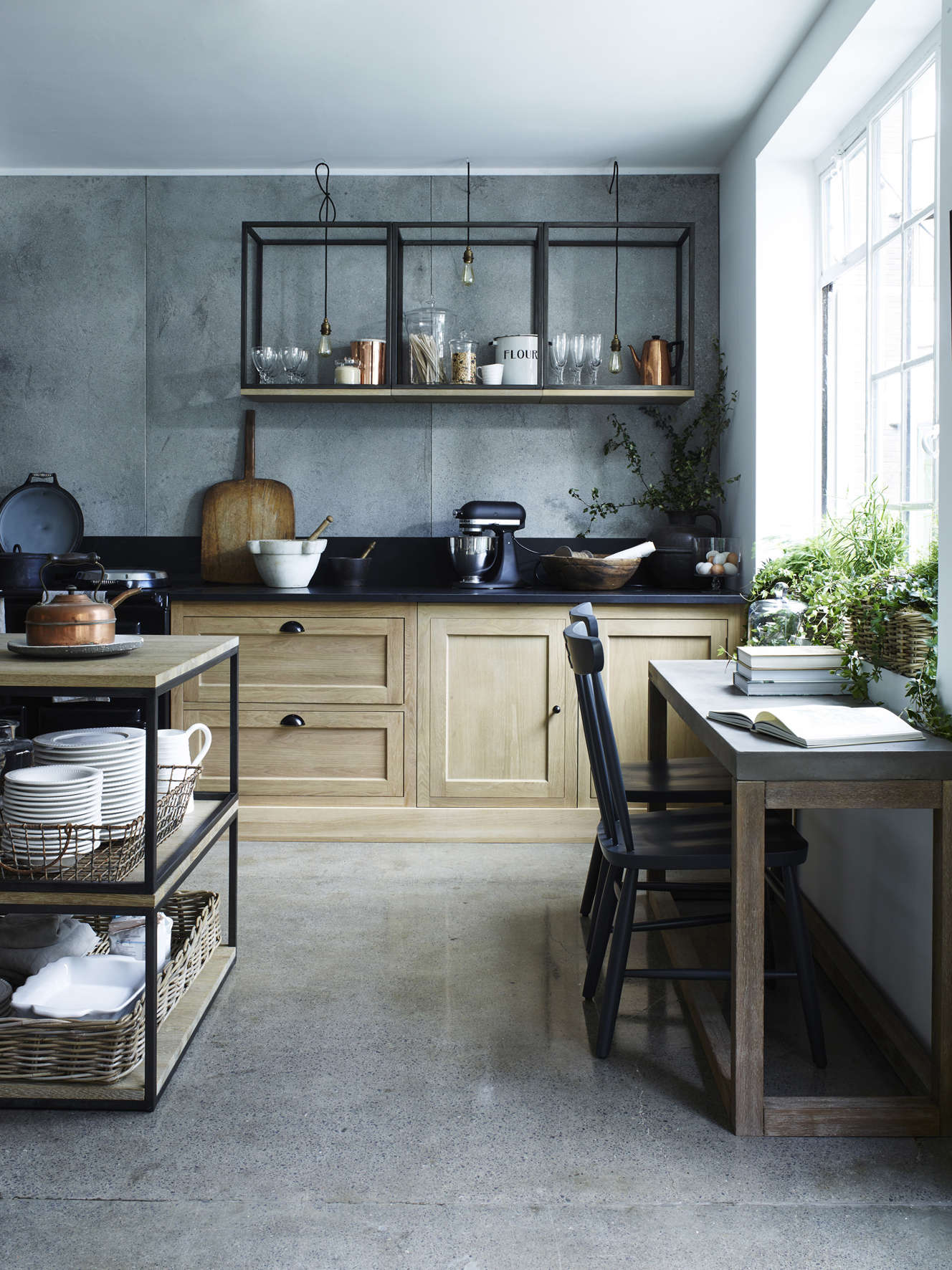 Design Sleuth Stacked And Wall Mounted Tables As Kitchen Storage Remodelista