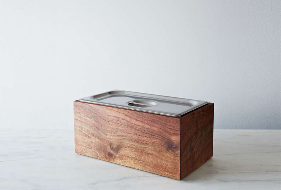 Noaway Countertop Walnut Compost Bin