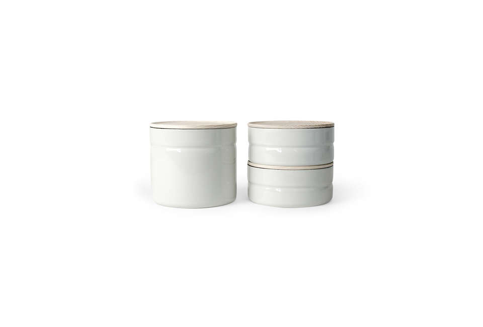 Riess Enamel Food Storage Canisters