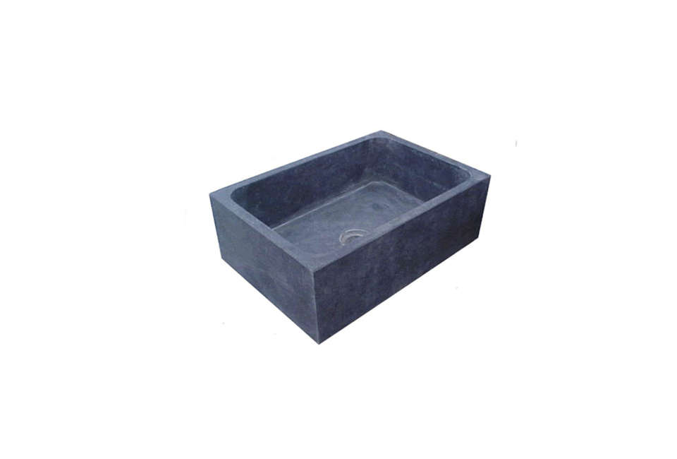 The Chicago-Wright Solid Soapstone Sink in unoiled soapstone measures 30 by .5 by  inches; $loading=