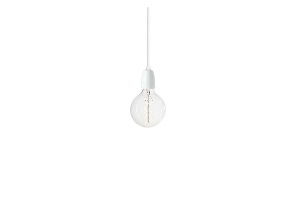 suspension nud collection pendant in white porcelain 20