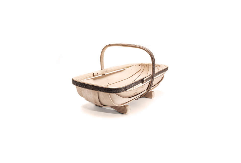 The Handmade Sussex Garden Trug is made in England;$9 at Kaufmann Mercantilebutcurrently out of stock. Contact Kaufmann Mercantile for restock information. For more trugs, see our post  Easy Pieces: Garden Trugs on Gardenista.